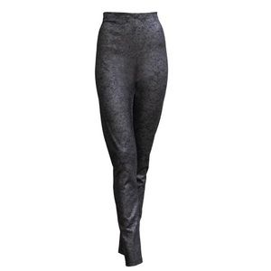 SARAH PACINI METALLIC FINISH LEGGINGS HIGH WAIST